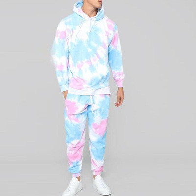 Dye Running Set men High Strength Sports Elastic Running Short Sports Suits Athletic Hoodie Suit Sportswear