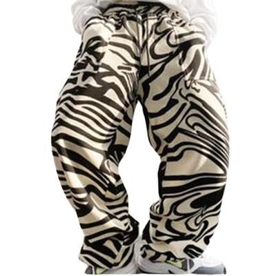 2021 Fashion Zebra Strip Hip Hop Pants Casual Loose Pants