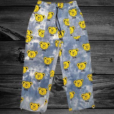 Joymanmall 2021 Men's Pants Bear Pattern Hip Hop Pants