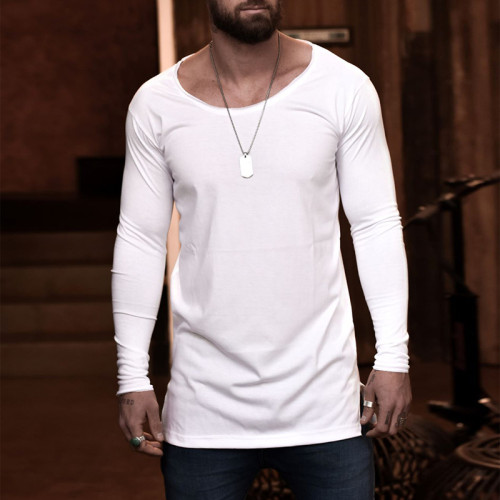 Joymanmall Men T-Shirts White Plus SIZE Casual T-shirts