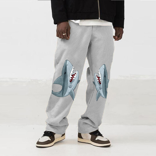 Men's Casual Loose Straight Leg Pants Fashion Animal Print Stylish Trousers for Shopping Daily Wear Running Jogging Sportwear