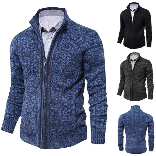 Men sweaters knitted zipper cardigan male Top quality famous brand clothing christmas sweater Knitwear Outwear new