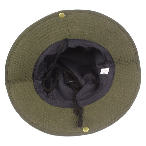 Men Wide Brim Bucket Hats Outdoor Sun Protection Hat Fishing Hiking Cap Foldable HAT