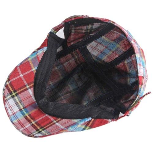 Beret Cap Spring Summer Caps for Men Women Vintage Plaid Artist Painter Beret Hat Adjustable Ivy Newsboy Flat Cap Berets