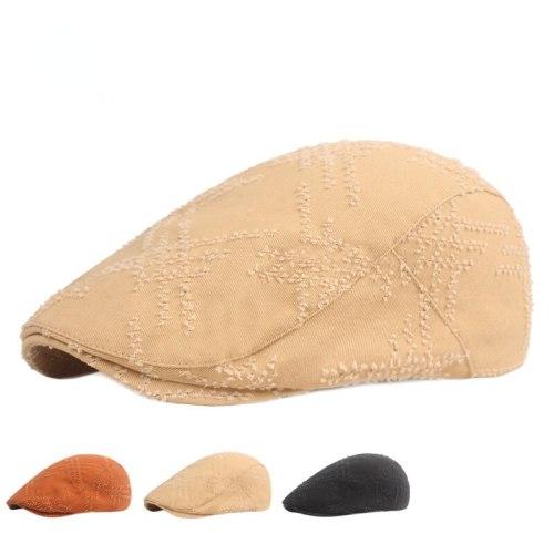 New Men's Hats Ripped Peaked Caps Old Retro Forward Caps Youth Hats Men Berets Women's Hats
