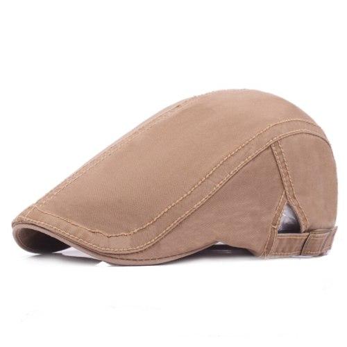 Fashion Street Cotton Beret Hat Men Women Solid Color Newsboy Cap Casual Flat Driving Golf Cabbie Caps Unisex Travel Sunhat