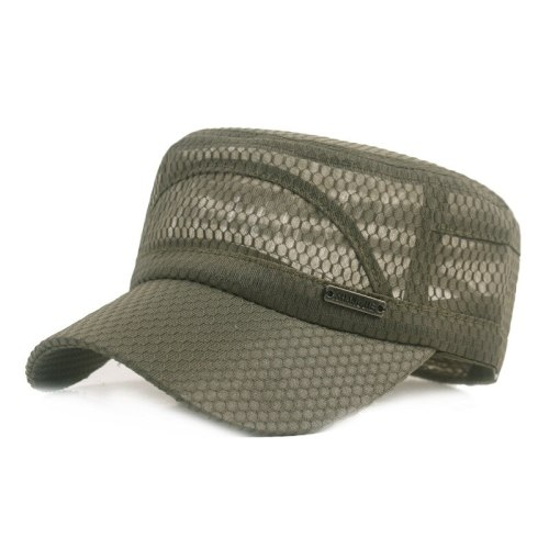 Summer Outdoor Men Net Flat Caps Hiking Hats Women Sun Shade Cycling Riding Breathable Anti Ultraviolet Travel Hat