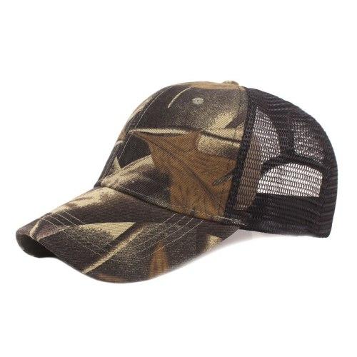 Summer Outdoor Men Camouflage Mesh Baseball Cap Fishing Sun Shade Hiking Mountaineering Cycling Riding Anti Ultraviolet Hat