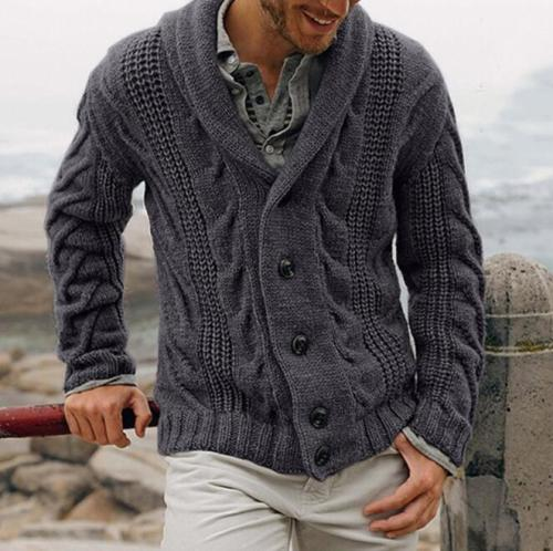 Men's sweaters autumn and winter new products sweater button cardigan sweater coat