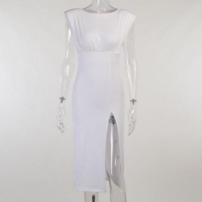 Dresses for Women 2021 Autumn Party Club Elegant Midi Dress Clothes Vestido Feminino Sexy Aesthetic Slit Maxi Bodycon Robe Dress