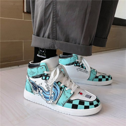 Couple High-top Shoes Korean Version of The Trend of Personality Gaobang Sports Shoes