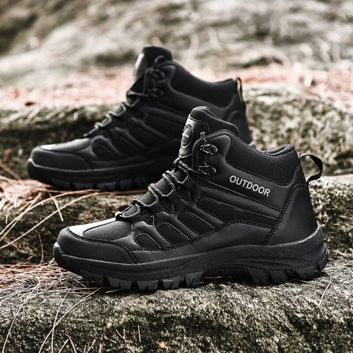 Summer New High-Top Shoes Men'S Non-Slip Wear-Resistant Hiking Shoes Jungle Trekking Flat Sneakers Rubber Soles Code 39-49