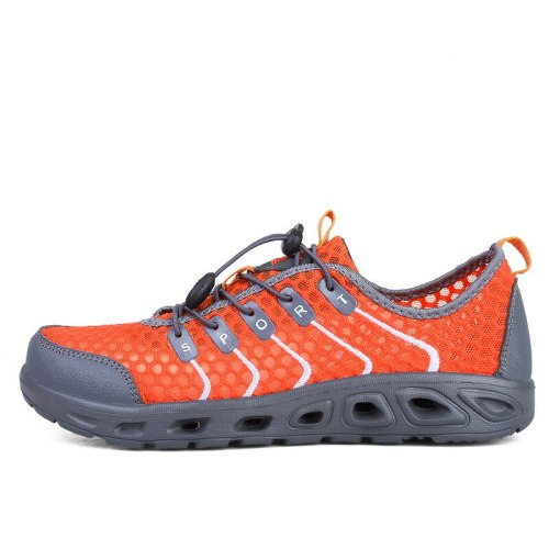 Swimming shoes men's and women's shoes orange beach speed interference water sports shoes fishing nets water shoes Zapatillas
