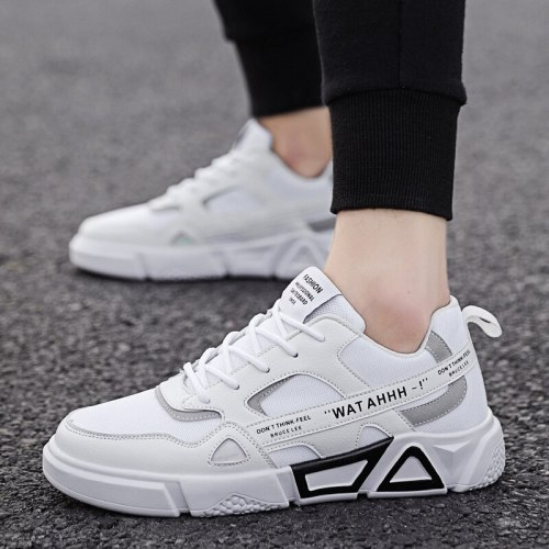 Men's Vulcanize Shoes Outdoor Trend Shoes Men Fashion Sneakers Breathable Casual Shoes Men Mesh Synthetic Shoes Synthetic Shoes