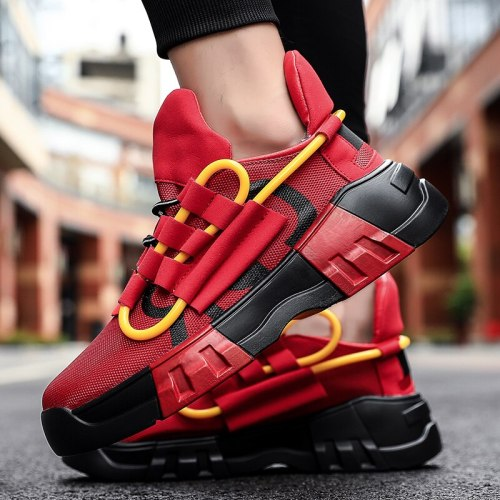 Design Sneakers Leather Calfskin Casual Shoes Top Technical Knit Men Platform Multicolor Trainers Zapatos Deportivos Zapatillas