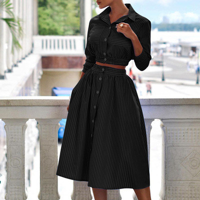 New Arrival Two Pieces Sets Women's Top Long Chic  Skirts