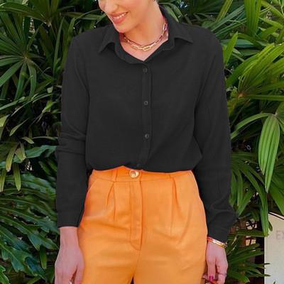 Autumn Long Sleeve Women's Shirts Chic Cool Office Lady Shirts