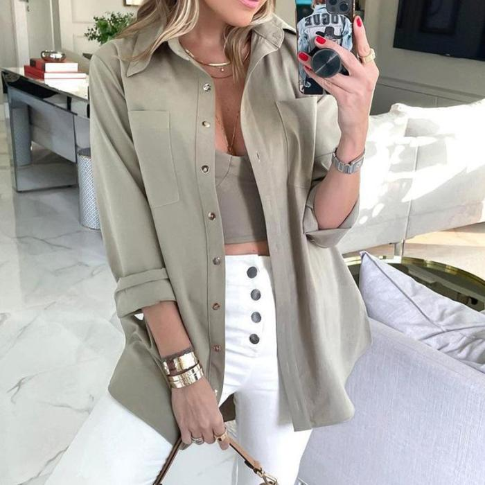 Autumn Jacket Women Elegant Solid Female Outerwear Casual Womens Top Chic Blouses Jacket Chaqueta Mujer Loose Coats Female