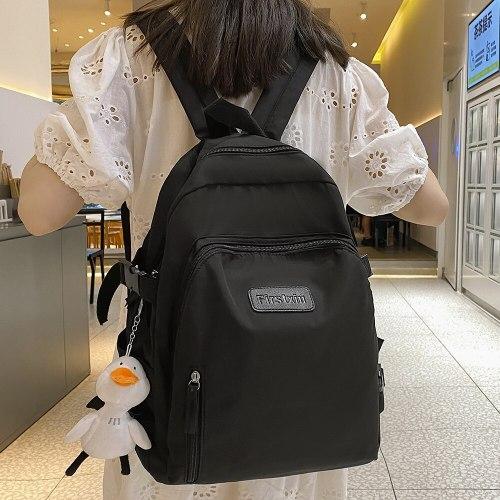Women College Student Travel Backpack Cute Girl Fashion School Bag Waterproof Nylon Ladies Backpack Kawaii Female Laptop Bag New