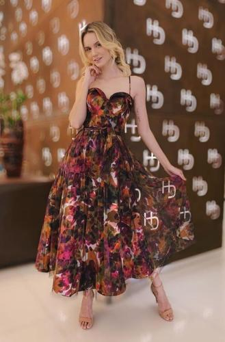 2021 New European And American Summer Fashion Sexy Vest Sleeveless Print Temperament Personality Long Dress