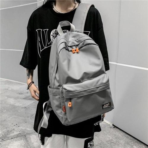 Office Work Men Backpack Business Bag Unisex Black Ultralight Backpack Thin Mochila PU Leather Functional Waterproof Backpack