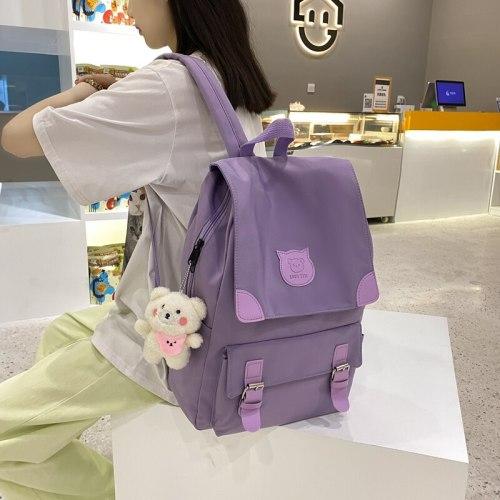 2021 NEW Women korean style waterproof backpack Kawaii Large capacity Female student Shoulder bag cute laptop bag for Teen girls