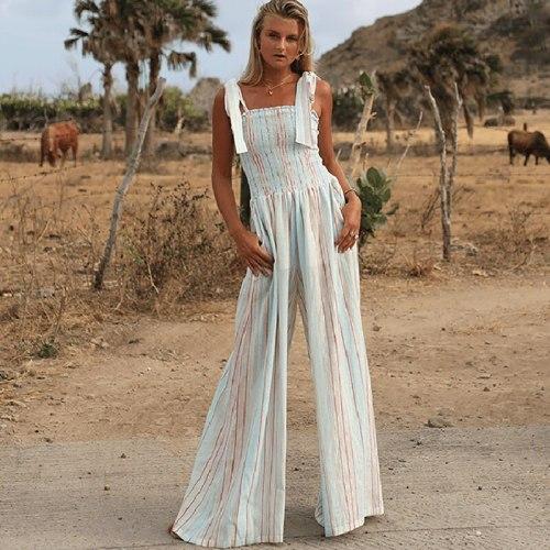 Jumpsuits Women Printed Sling Piece Trousers Fashion Trend Elegant Loose Comfortable Jumpsuit Autumn Female