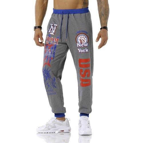 New Men's Joggers Pants Printed Letter Track Pants Men Outdoor Sport Fitness Football Training Streetwear Hip Hop Sweatpants