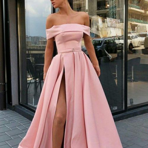 2021 New Europe And The United States Summer Fashion Sexy Pure Color Multi-Color Wipe Breast Back Big Swing Long Dress