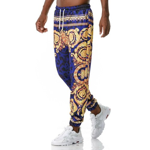 Vintage Mens Joggers Pants 2021 Brand Casual Palace Style Royal Floral Printed Jogging Sweatpants Men Streetwear Sports Trousers