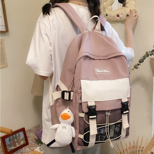 Girls College Strings Kawaii Book Backpack Women School Bagpack Mesh Large Capacity bolsa feminina mochila shoulders bags