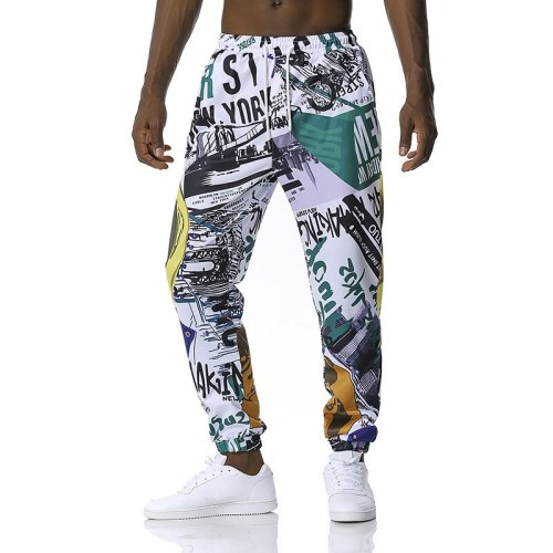 Men and women 3D animation cartoon casual pants Character graffiti print fashion sweatpants Four seasons new Classic trousers