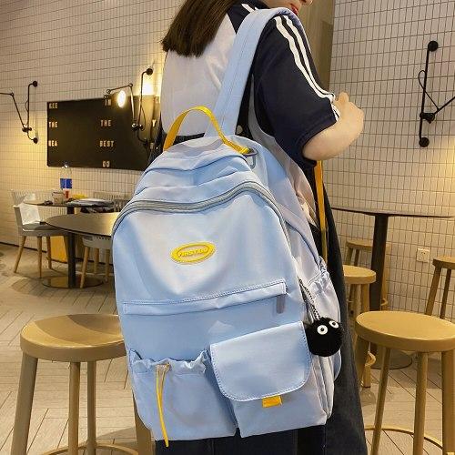 Waterproof Nylon Female Pink Bag College Student Women Backpack Trendy Girl Kawaii School Bag Cute Ladies Cool Backpacks Fashion