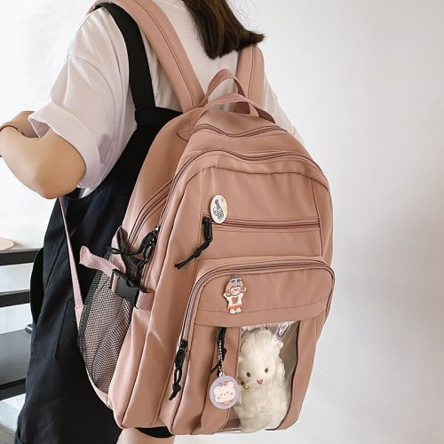 2021 New Summer Nylon Women Rucksack Female Travel Double Shoulder Backpack Student School Bag for Teenager Girls