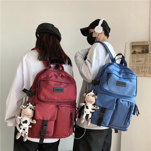 New High Quality Nylon Women Backpack Female Multi-pocket Travel Rucksack Student School Bags for Teenage Girls Boys