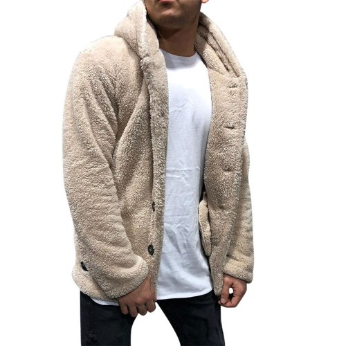 2021 Sherpa Fleece Cardigan Plus Size 3XL Fluffy Hooded Jacket Winter Warm Streetwear Unisex Teddy Sweaters