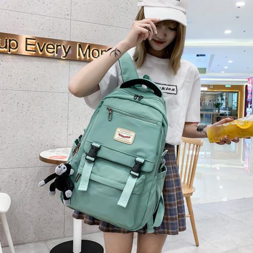 Fashion School Bags Harajuku High School College Student School Backpack Women Waterproof Nylon Schoolbag Ladies