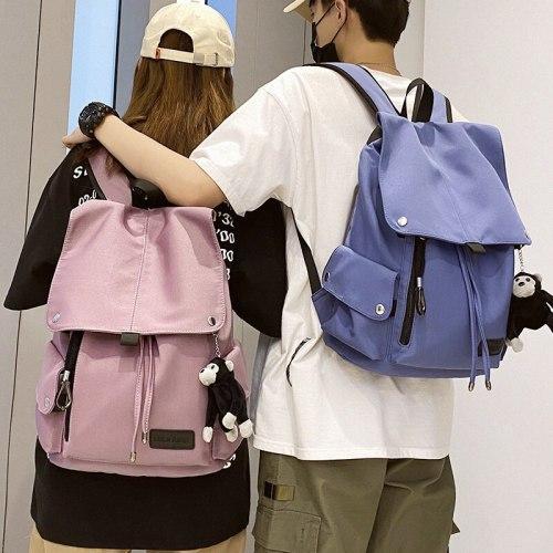 women's backpack Waterproof nylon fabric unisex shoulder bag Large capacity simple style travel bag Casual Mochila