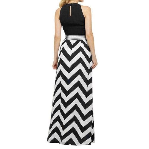 Summer Long Dress Plus Size Sleeveless Zig Zag Elegant Spaghetti Strap Dresses For Women Clothing Vestidos Mujer Verano 2021