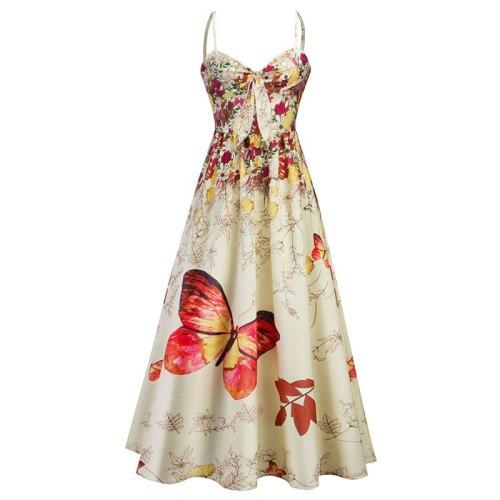 2021Women Summer Clothes Vintage Casual Sexy Party Night Dresses Print Elegant Fashion Maxi Dress