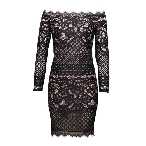2021 New Vintage Sexy Mesh Fork Dresses Spring Summer Fashion Women Casual Sexy Elasticity Slash Neck Lace Long Formal Dress