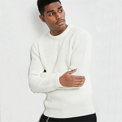 Men's Autumn And Winter Fashion Knitted Pullover Sweaters Mens Streetwear Hip Hop Oversize Casual Retro Sweater
