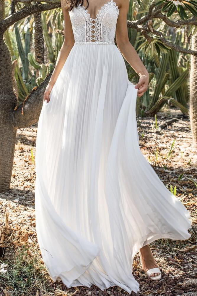 2021 Summer Sexy Women Chiffon Sequin White Camis Back Hollow Long Party Elegant Gown Dress robe femme sukienki vestidos vestido