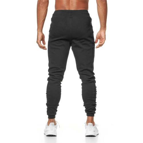 Mens New Jogger Sweatpants Casual Skinny Cotton Pants Gyms Fitness Workout Trousers Male Spring Sport swearpants Track Bottoms