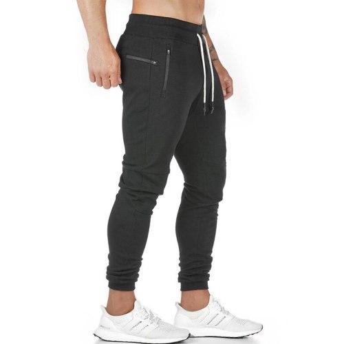 2021 New Jogging Pants Men's Zip Pocket Joggers Fitness GYM Training Pants Sportswear Sports Running Workout Athletic Sweatpants