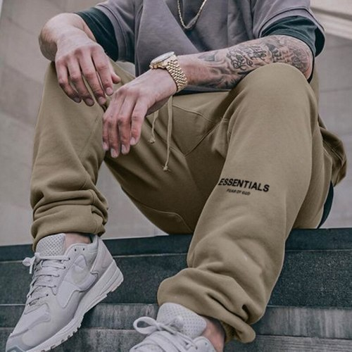 Autumn New Men's Sports Pants Tide Brand Wide-leg Loose Casual Trousers Men's Thin Quick-drying Stretch Running Pants брюки