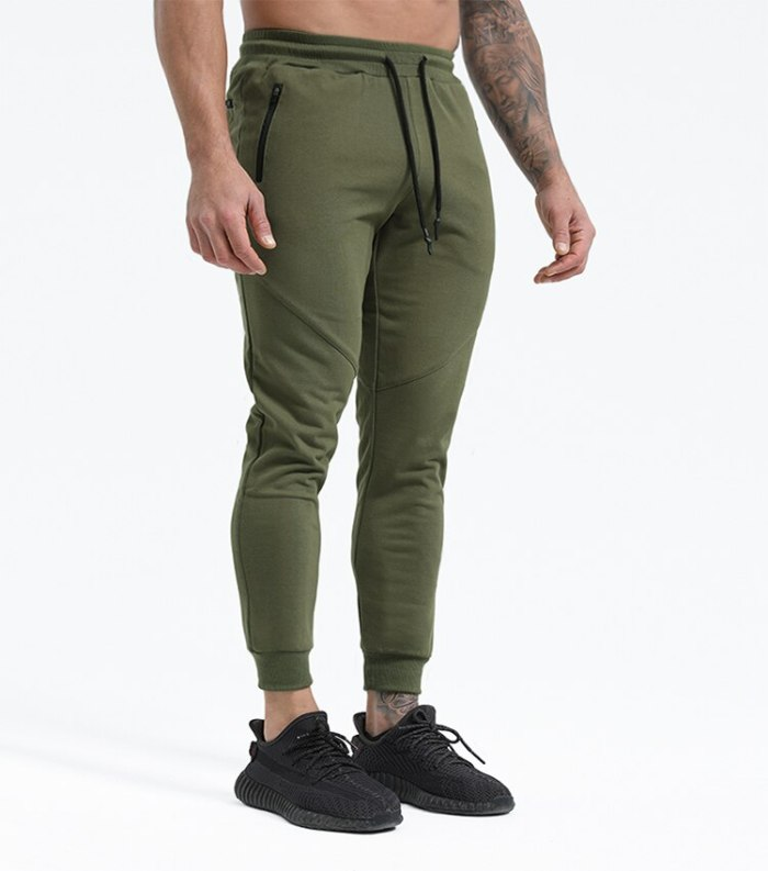 New 2021 slacks Men's Loose Leg Knit Pants Solid color plus size running training track pants sweatpants
