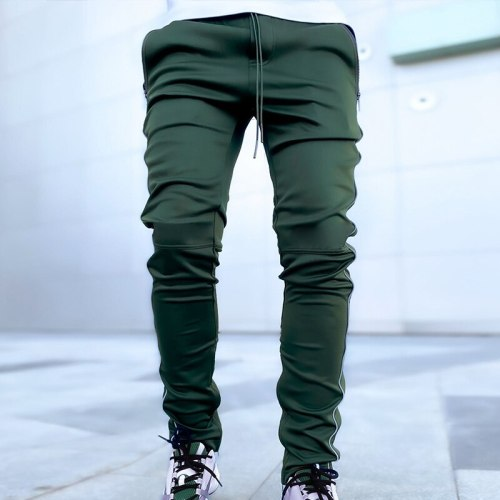 Spring and Autumn Men's Casual Pants Korean Version of Large Size Reflective Pants Men'sTight Mouth Small Foot Sports Pantsбрюки