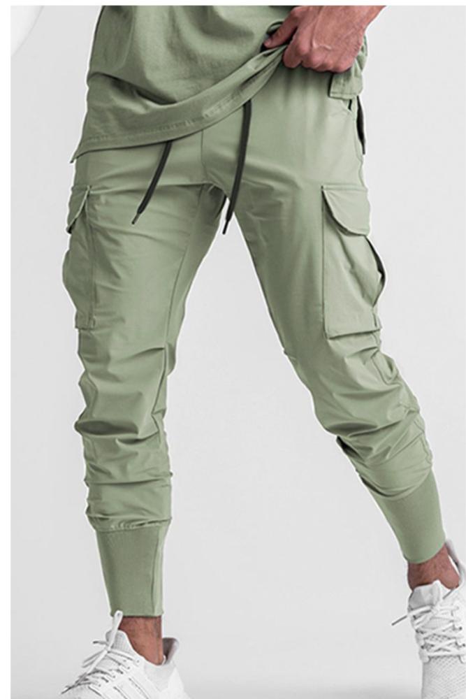 Men's Trendy Brand Loose Multi Pocket Cargo Pants 2021 Summer New Thin Sweatpants Sports Pants Joggers Men Pantalones Hombre
