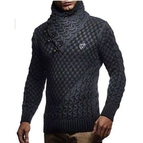 Men Sweaters 2021 Brand New Warm Pullover Sweaters Man Casual Knitwear Winter Men Black Sweatwer